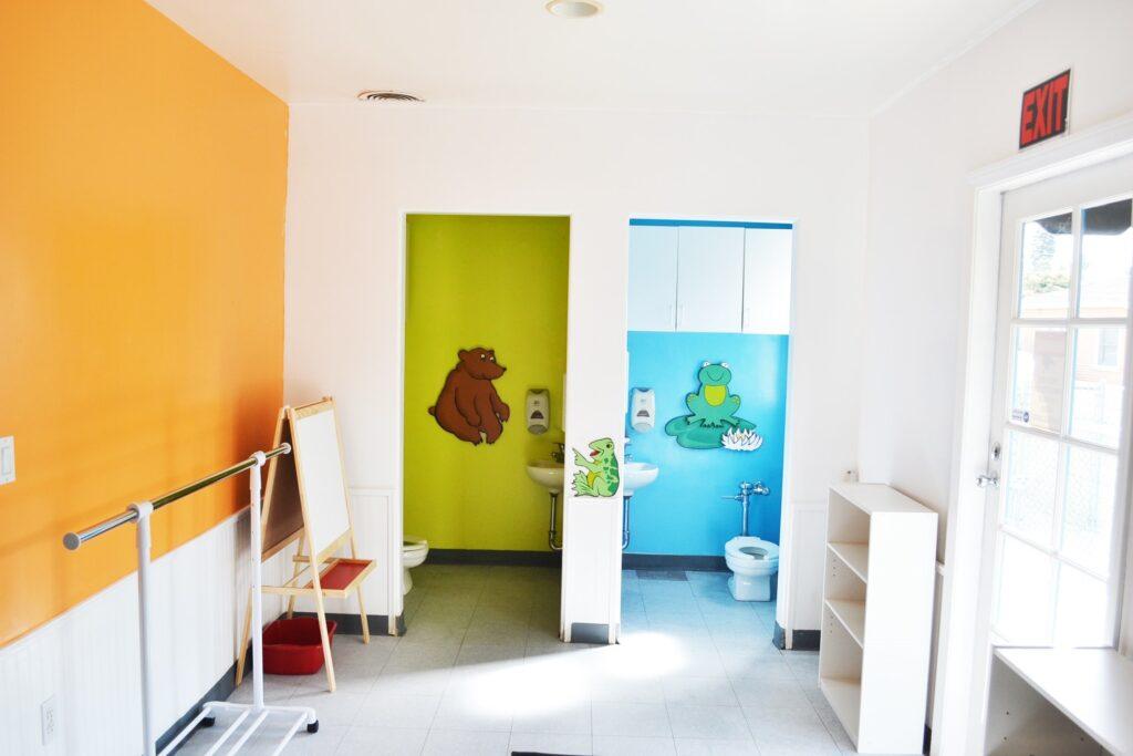 Wonderland Montessori of Anaheim Montessori Classroom Bathroom for potty training.