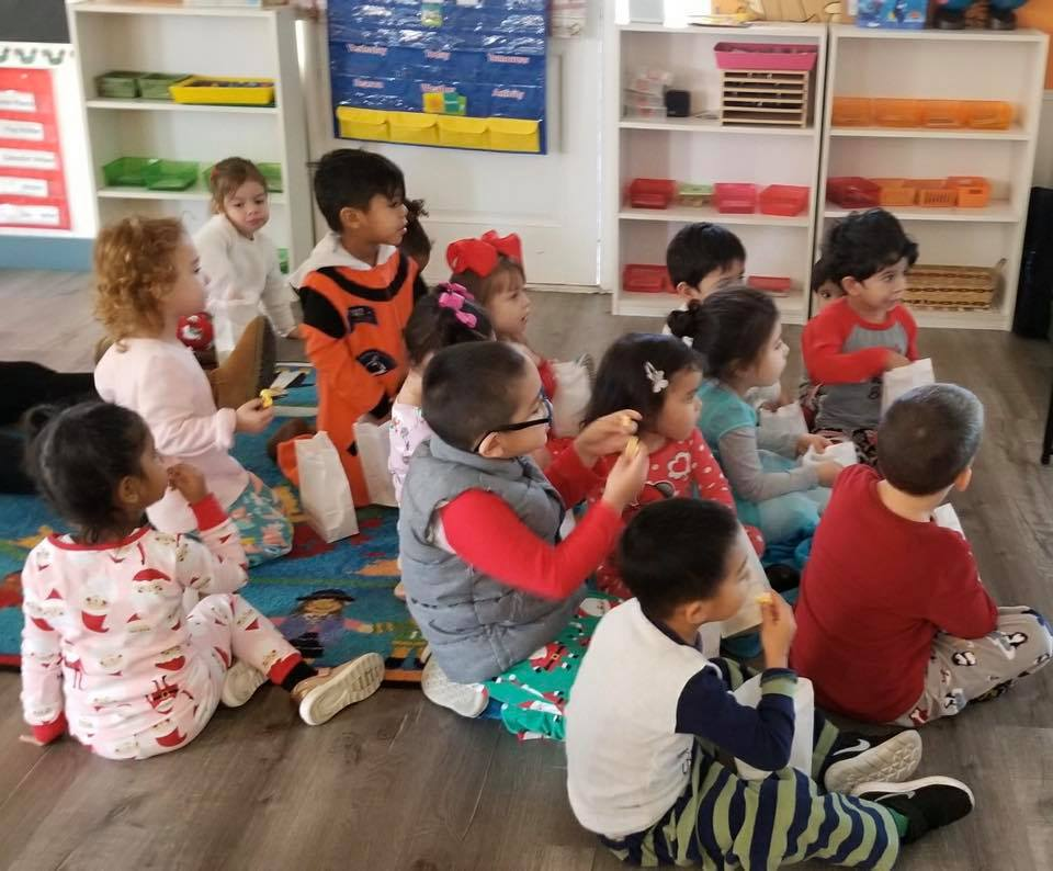 Wonderland Montessori of Anaheim Montessori Christmas Celebration Pajama Party